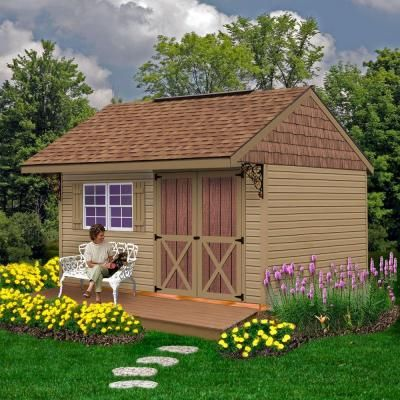 best barns clarion 10 ft x 14 ft prepped for vinyl storage shed kit - Garden Sheds 7 X 14