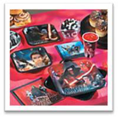 Save yourself time and money with a Star Wars Party Pack - tableware, decorations and party bags for 16 kids.