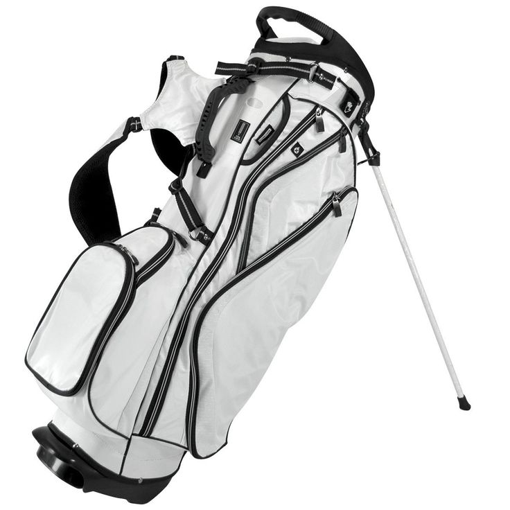 Offering a modern look and feel these mens 2015 OS 7.8+ golf stand bags by Orlimar feature top and side grip handles and storage for all of your golf accessories