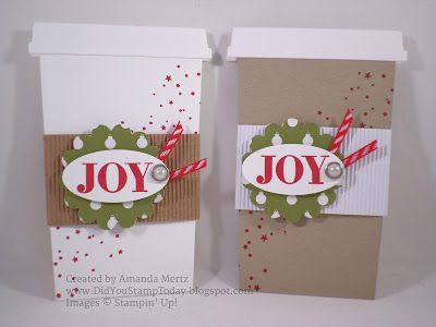 Coffee Cup Gift Card Holder – Stampin' Up! Holly Jolly Greetings