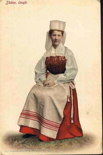 Swedish folk dress from the Onsjö district in Skåne.
