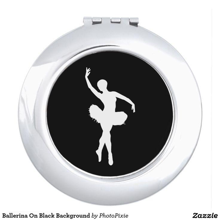 Ballerina On Black Background