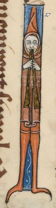 Detail from The Luttrell Psalter, British Library Add MS 42130 (medieval manuscript,1325-1340), f58r