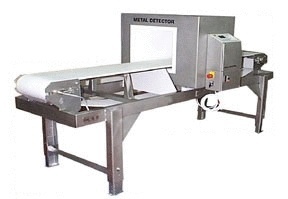 Dry metal detector using powerful magnetics to remove foreign material. Magnetics supplied by Eclipse Magnetics