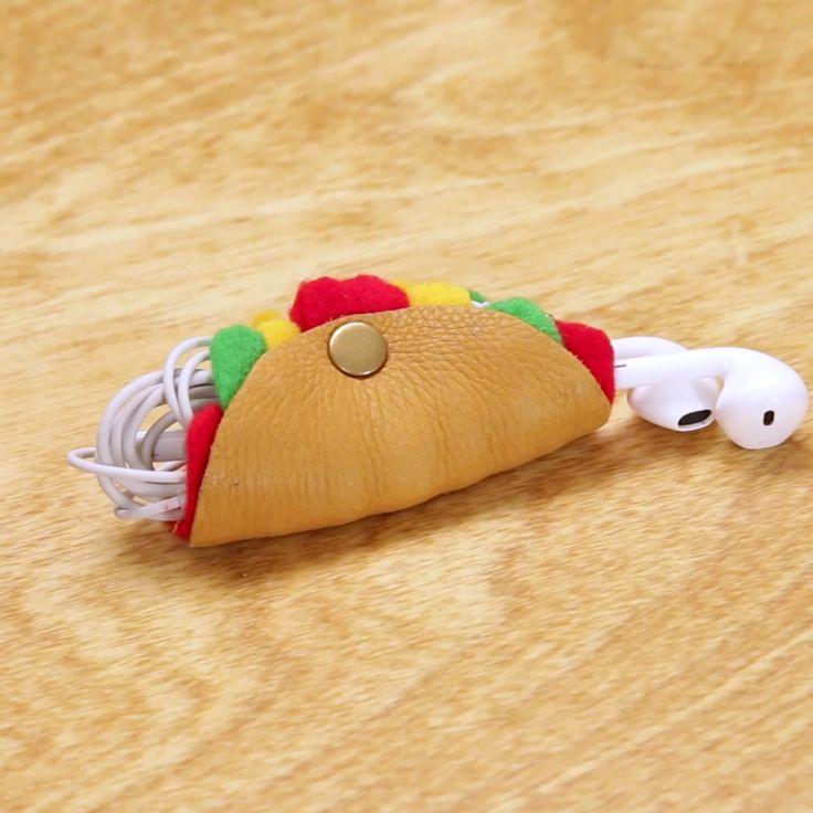 DIY Taco Earbud Holder