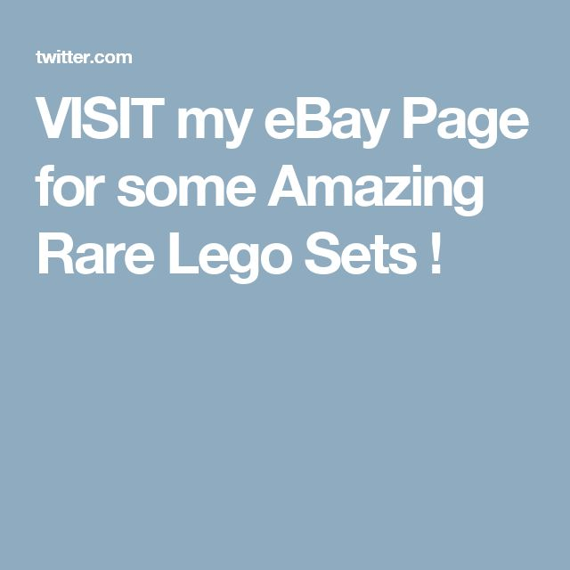 VISIT my eBay Page for some Amazing Rare Lego Sets !