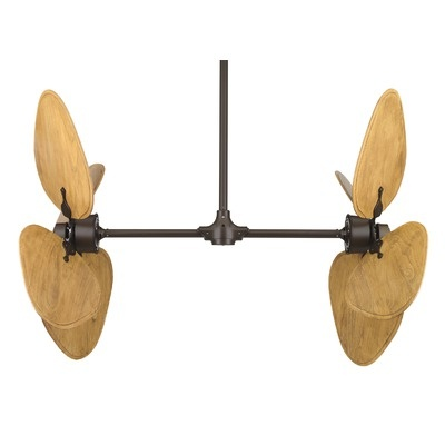 "just to enhance the british colonial feel, these would look totally fabulous in our studio.  Fanimation 52"" Palisade 8 Blade Dual Ceiling Fan"