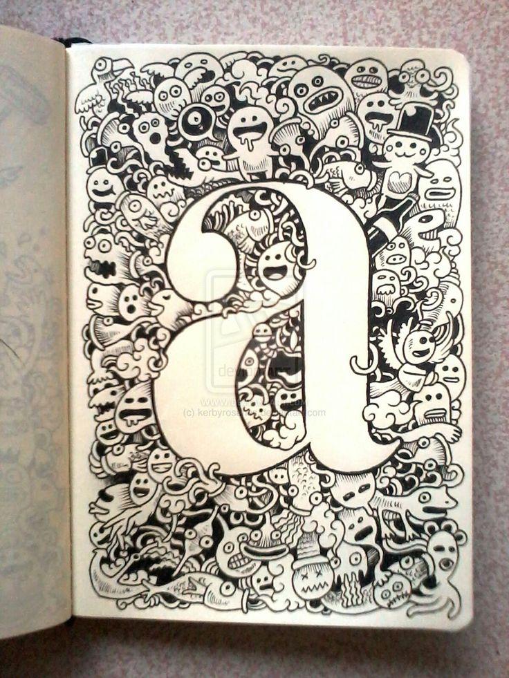 DOODLE ART: A is for Art by kerbyrosanes.deviantart.com on @deviantART