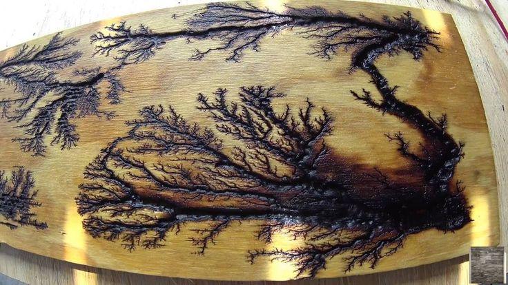"""DIY Fractal Wood Burn On 5/8"""" AC Sanded Pine"""