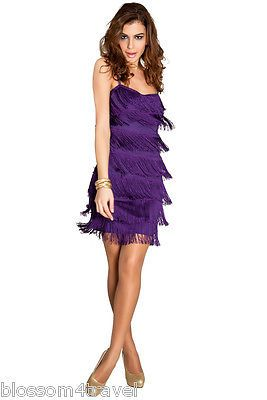 Goddess purple tassel #flapper 1920 s gatsby party cocktail tiered #fringe #dress,  View more on the LINK: 	http://www.zeppy.io/product/gb/2/401110351604/