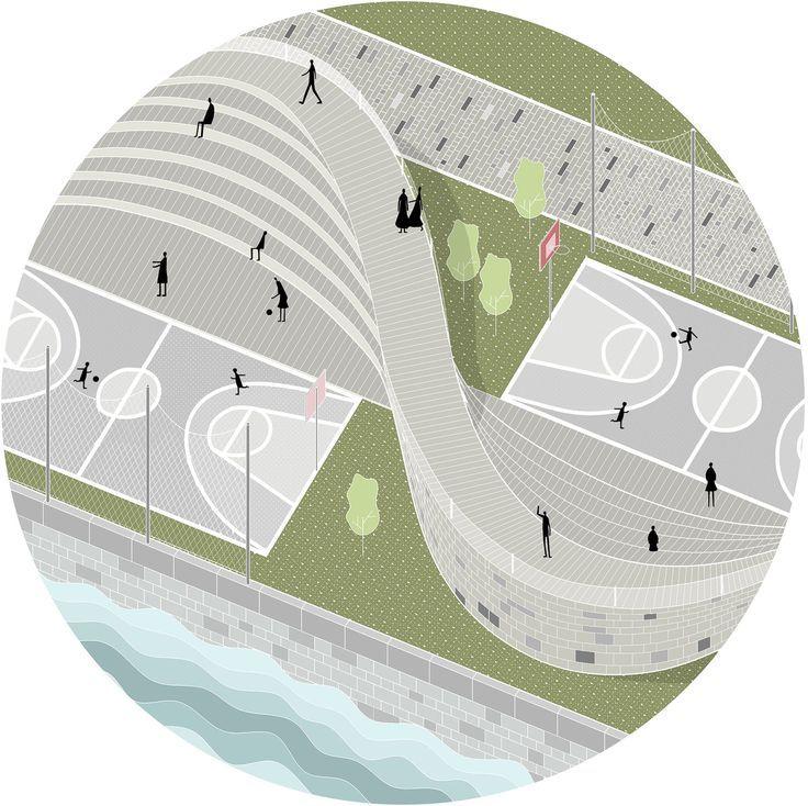 "Embankment design project for ""Park Line"" architectural"