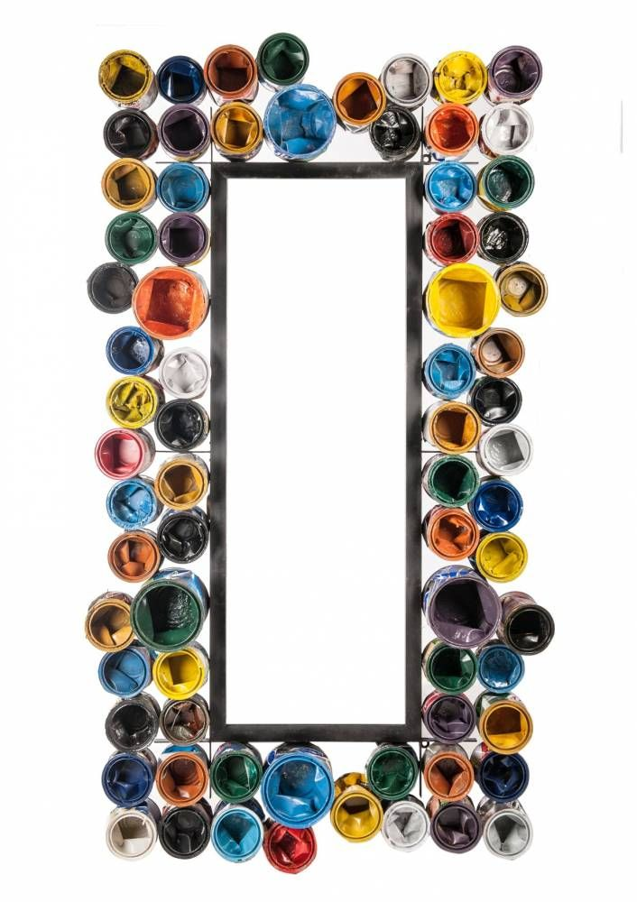 Zrkadlo ART INDUSTRIAL 100x180 cm - viacfarebná