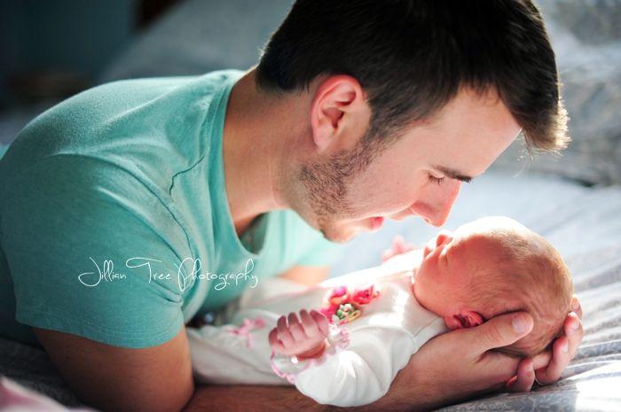 Daddy & Baby Girl - Birth Story - Florida Photographer - Jillian Tree Photography