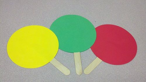 Green Says Go: A cool prop! The kids move when you hold up the green and stop when you hold up the red.