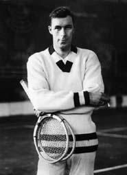 1920s Mens tennis Sweater- The cricket sweater with vertical cable knit cream or white panels and contracting Blue V neck trim in Britain became a classic men's Tennis sweater in the USA. Tennis star Bill Tilden wore them before and after games making it the most common publicity look for him.http://www.vintagedancer.com/1920s/1920s-mens-sweaters/