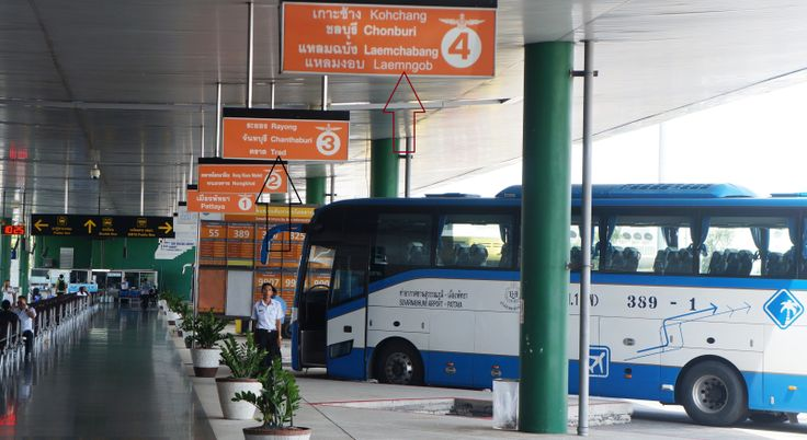 Bus Station at the Airport