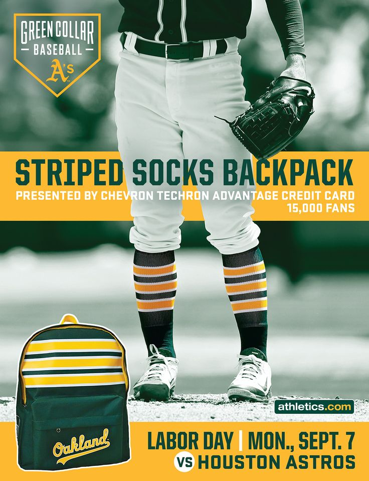 2015 Athletics Magazine Ad - Striped Socks Backpack on Behance
