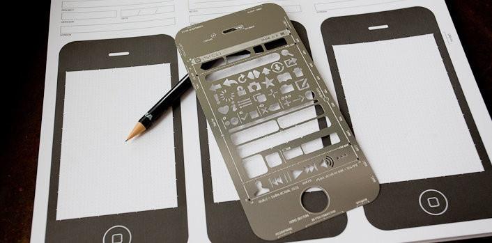 UI Stencils—iPhone Stencil Kit