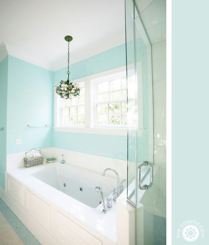 1402 best images about for the home on pinterest roman shades how to spray paint and benjamin - Tiffany blue bathroom ideas ...