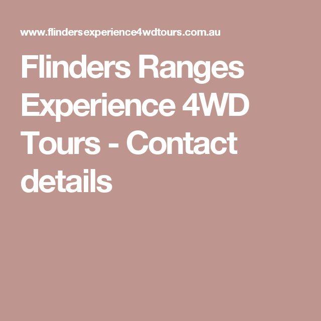 Flinders Ranges Experience 4WD Tours - Contact details