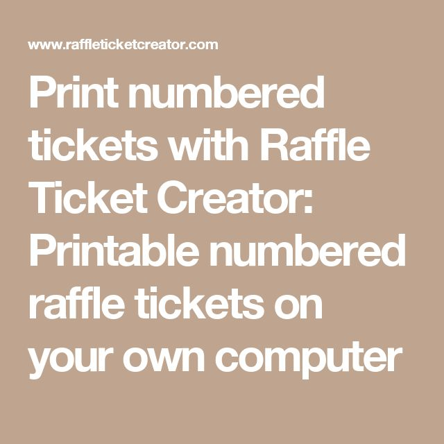 17 Best Ideas About Printable Raffle Tickets On Pinterest | Baby
