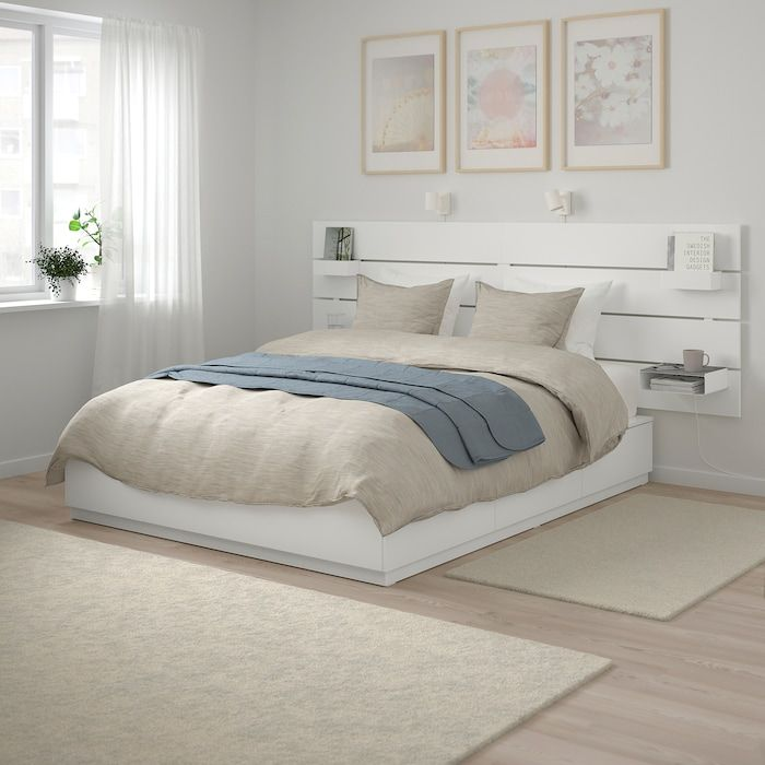 Nordli Bed With Headboard And Storage White In 2019