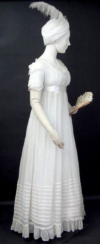 Gown - c1799  (Fashion Museum, Bath)  A couple of alterations and minus the feather turban, I would so wear this now!