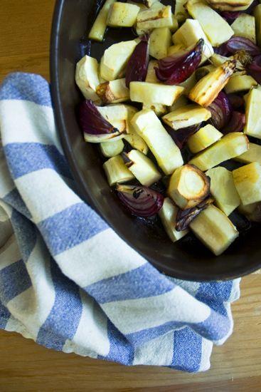 Pietruszka pieczona w cytrynowej oliwie