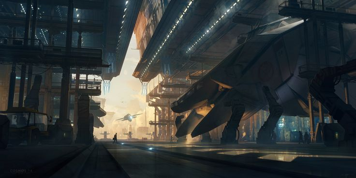 COSMOS 14 - Spaceport by Bastien Grivet | Illustration | 2D | CGSociety