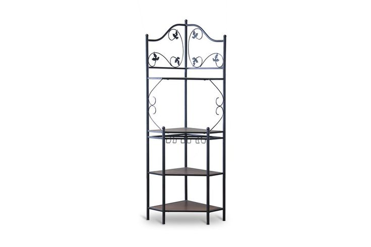 Pomona Wood and Metal Transitional Baker's Rack—Low