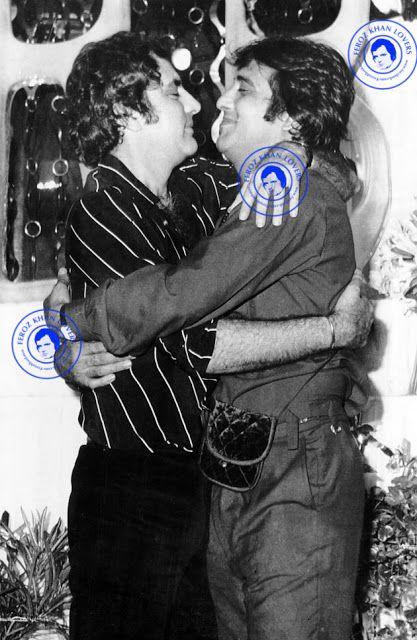 The coolest friends with a heart of gold . Feroz Khan ji Vinod Khanna Ji              Feroz Khan Lovers
