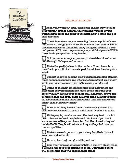 Essay revising and editing checklist