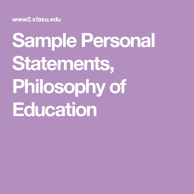 This philosophy personal statement sample will show you some tips - fresh 7 personal statement grad school samples