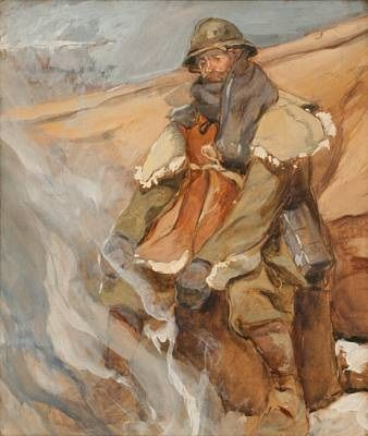 A soldier from World War One by Eugène Louis Gillot