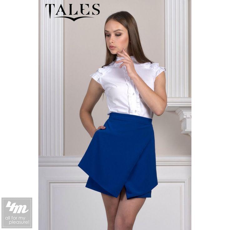 Блузка Tales «Bandy_2» (Белый) http://lnk.al/4Hem   Оригинальная блузка без рукавов имеет воротник-стойку и застегивается на пуговицы. Спереди и на плечах модель декорирована красивыми рюшами придающими изделию женственности.  #блуза #блузкабелая #блузка #блузы  #блузки #блузкакупить #блузавналичии #блузакиев #стильныйобраз #лукдня #мода #вещи #одеждаУкраина #4m #4mcomua
