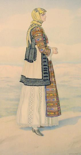 TRAVEL'IN GREECE I Peasant Woman's Costume (Eleusis)