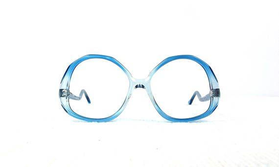 70s Blue Drop Arm Eyeglasses Vintage Eye Glasses Vintage Eyeglasses Eyeglasses Glasses