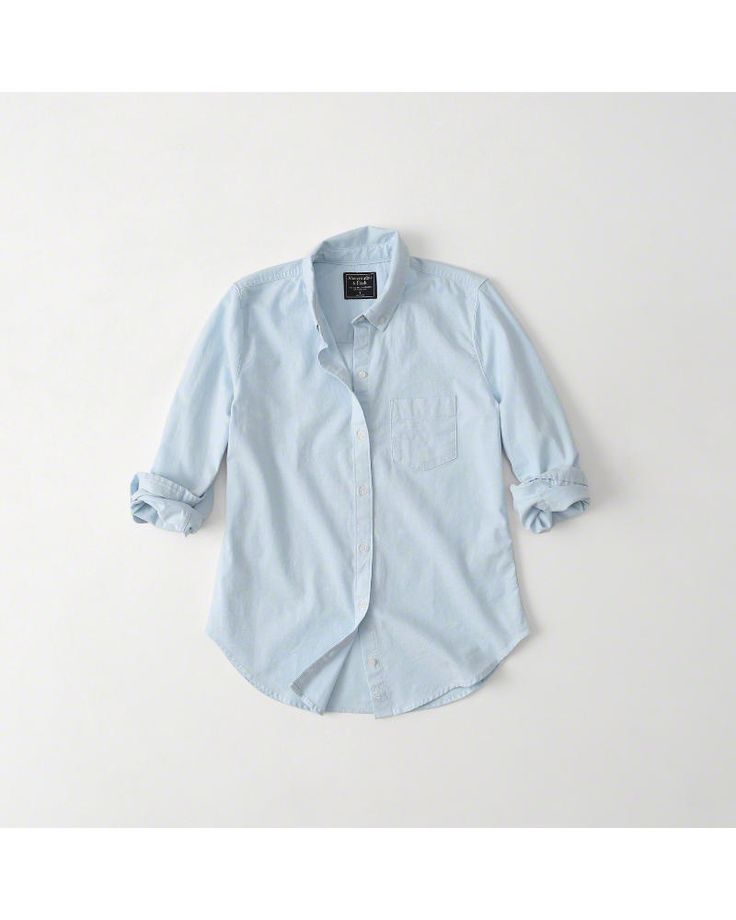 A&F Women's Oxford Shirt in Blue - Size XS