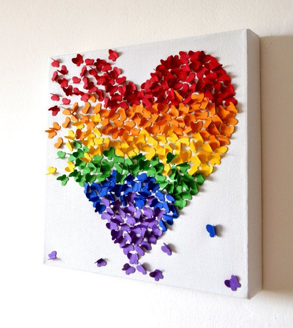 3D Rainbow Butterfly Art; omg love this!!! I may have to try to make it on my own tho for that price! yikes