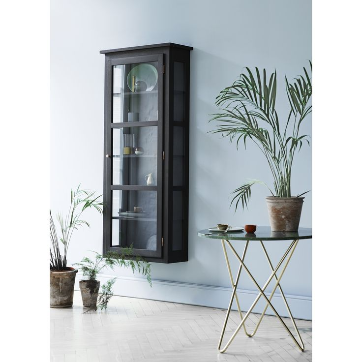 Glass case N4, dark oak – Lindebjerg Design #interior #design #scandinavian