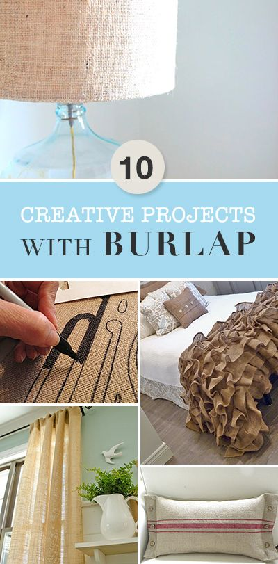 10 Creative Projects with Burlap • A wonderful round-up of great ideas, tutorials and projects!