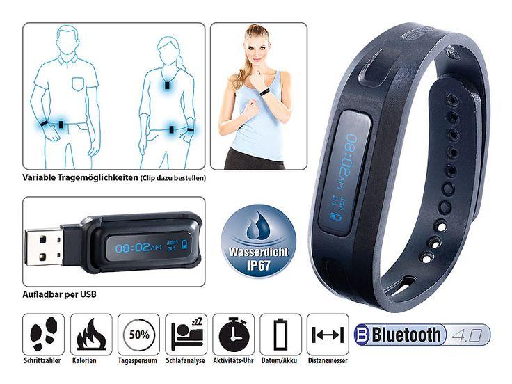 newgen medicals BT-4.0-Fitness-Armband FBT-50 V4 mit Schlafüberwachung