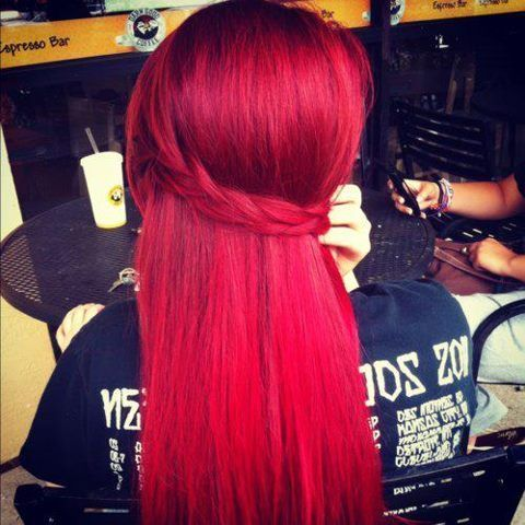 Hair Colors, Haircolor, Beautiful, Pale Pink, Braids, Hair Style, Red Hairstyles, Redhair, Bright Red Hair