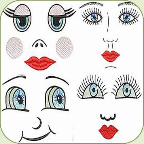 how to make a rag doll face