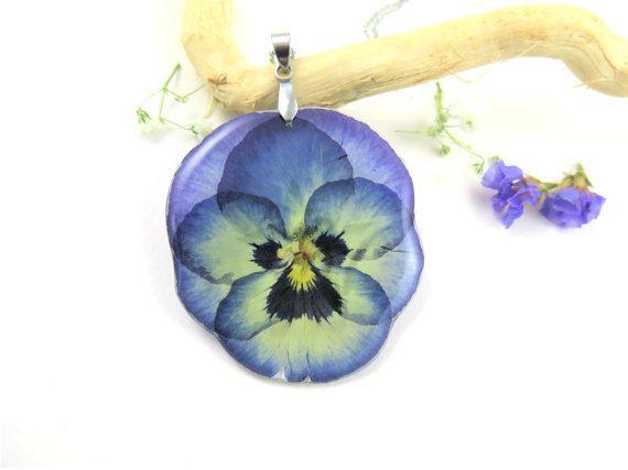 Botanique collier de vraie fleur pressé de par SmileWithFlower