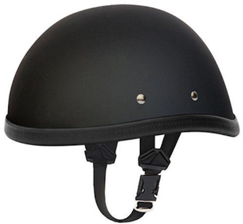 Other Helmets and Protection 177866: Flat Black Skull Cap Novelty Motorcycle Helmet BUY IT NOW ONLY: $46.75