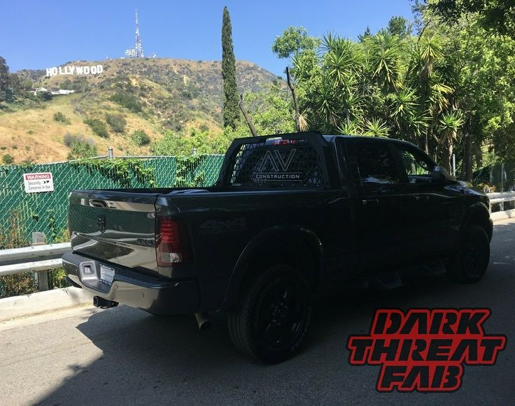 Keep a #lookout for this #darkthreat  rack around #hollywood ! We have some really great customers!  Call us at 1-501-206-8079 or email us at sales@darkthreatfab.com to get your project started! ⬇⬇⬇⬇⬇⬇⬇⬇⬇⬇⬇ WWW.DARKTHREATFAB.COM #love #bumper #ram #steps #dodge #ford #f150 #f250 #f350 #f450 #chevy #gmc #cummins #duramax #sema #2017  #sema2017 #exhaust #lifted #exhauststacks #darkthreatfab #ladderrack #headacherack