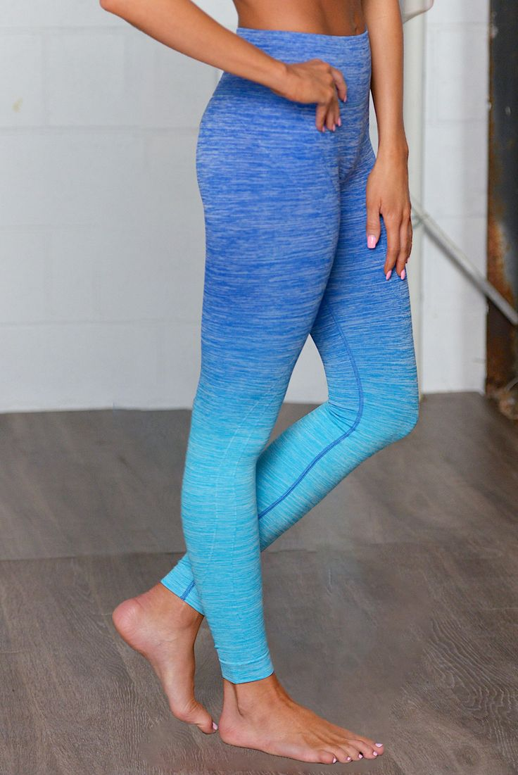 Give It All You Got Ombre Athletic Pants - Blue from Closet Candy Boutique