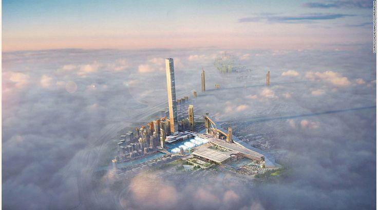 6. Dubai One Tower, Dubái. Esta mega construcción está siendo levantada en el Golfo Pérsico y cuando hayan finalizado los trabajos será la torre residencial más alta en el mundo con 711 metros. La torre tendrá 885 apartamentos para residenciar a 78.000 personas, una pista de ski cubierta (que se ve a la derecha) y un puerto deportivo. También dispondrá de un hotel y un centro comercial en el interior.-JH