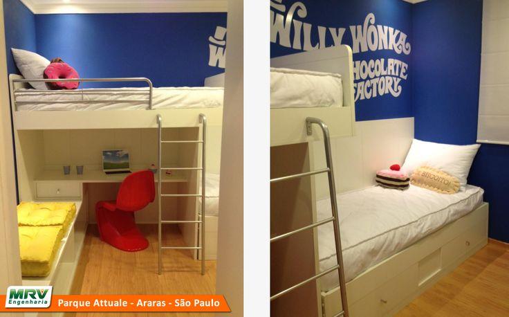 Apartamento decorado 2 quartos do Parque Attualle no bairro Jardim Santa Catarina - Araras - SP - MRV Engenharia - MRV Engenharia - Quarto Infantil